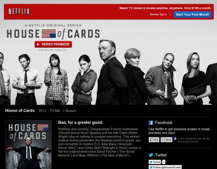 netflix catalogo house of cards