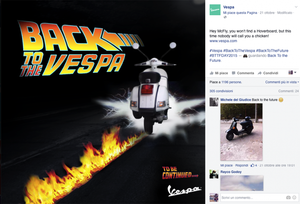 back to the future vespa