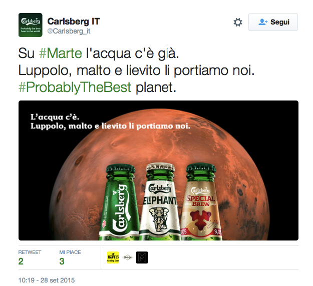 water on mars carlsberg