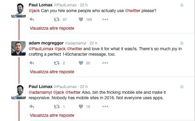 twitter10k risposte utenti a jack dorsey 2
