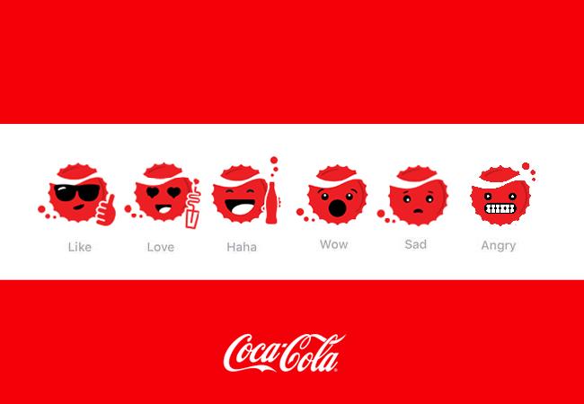 coca-cola facebook reactions