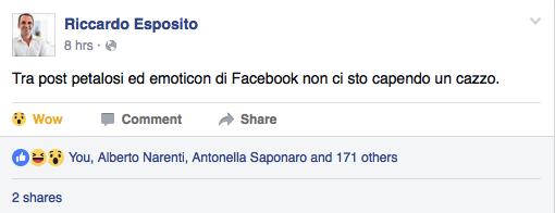riccardo esposito facebook reactions