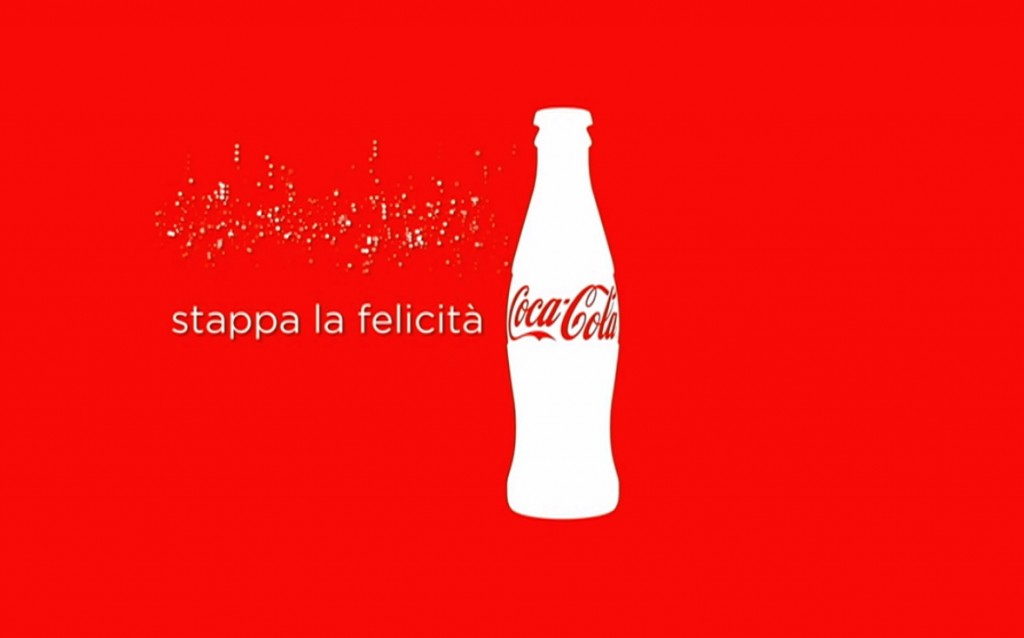 Coca Cola stappa la felicità