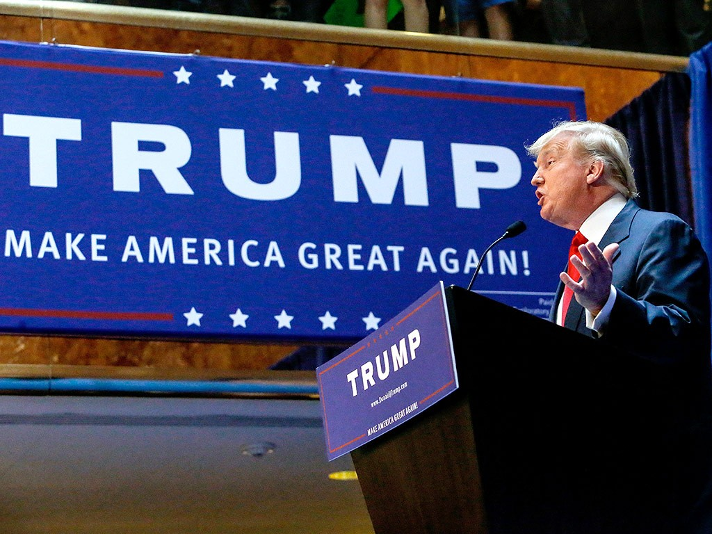 donald trump candidato presidenziale USA Make America Great Again!