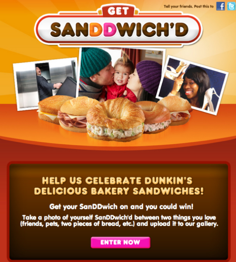 dunkin' donuts contest