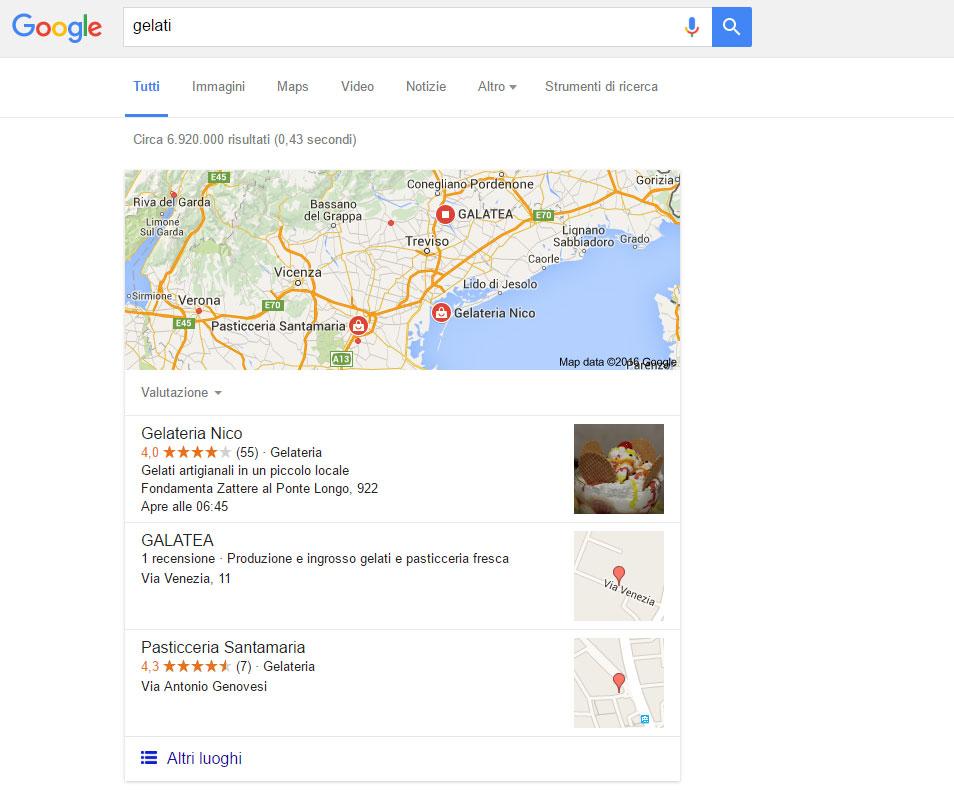 Risultati di ricerca localizzati tramite IP