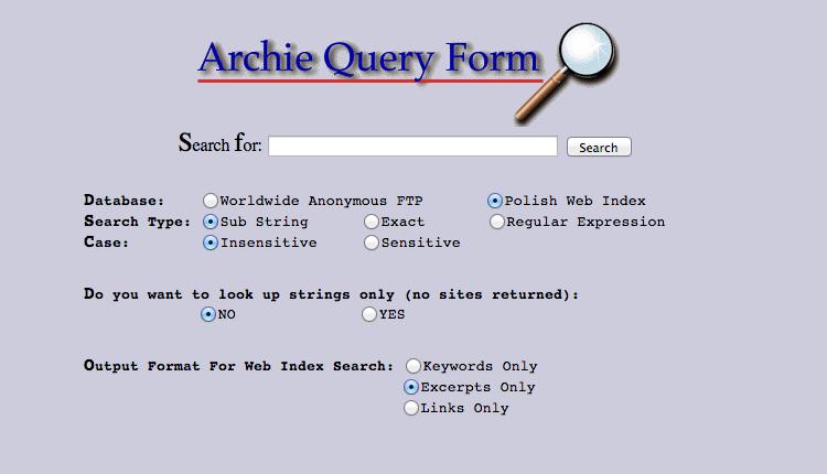 Archie primo motore di ricerca
