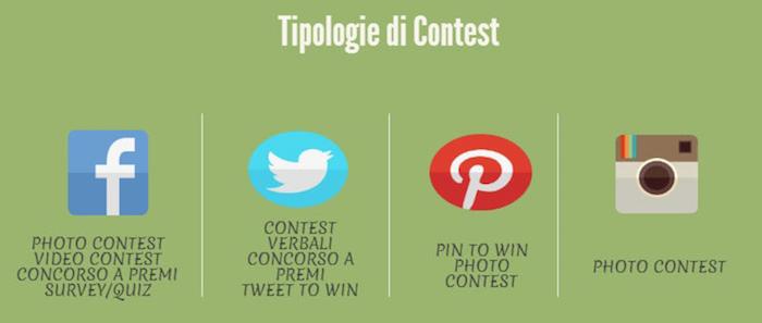 contest: tipi e social