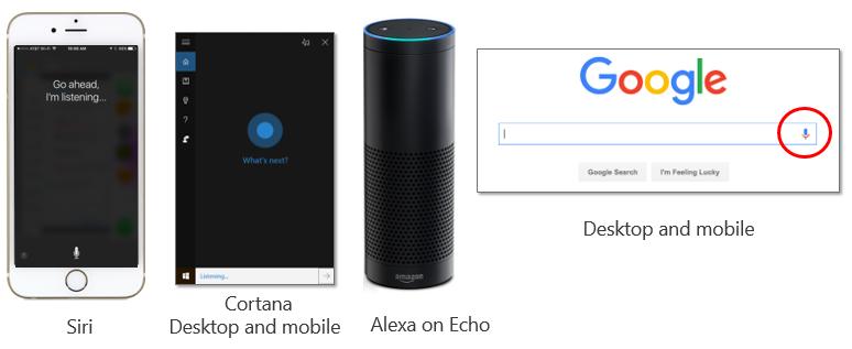 ricerca vocale siri cortana alexa e google microphone