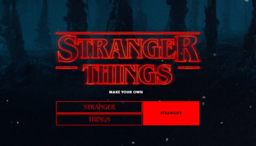 Stranger Things Make your own