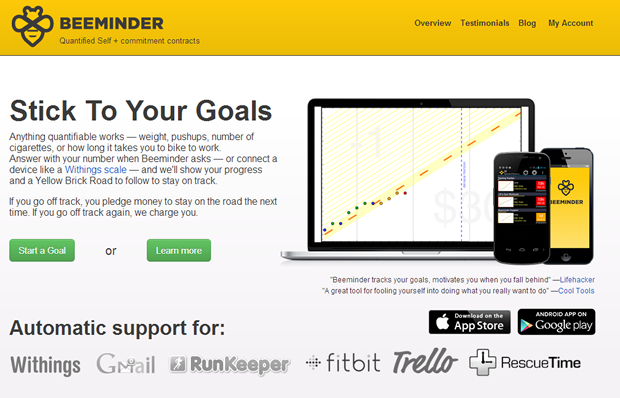 Beeminder app