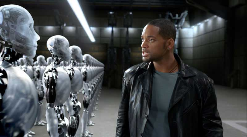 io robot uomo macchine
