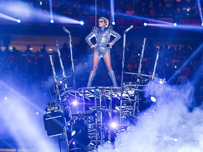 Lady Gaga performs during the Pepsi Zero Sugar Super Bowl LI Halftime Show