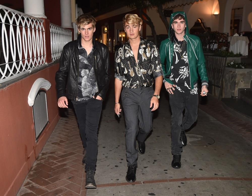 Presley Gerber Brandon Thomas Lee Gabriel Kane Day Lewis in Capri for Dolce&Gabbana ADV campaign 19 10 16