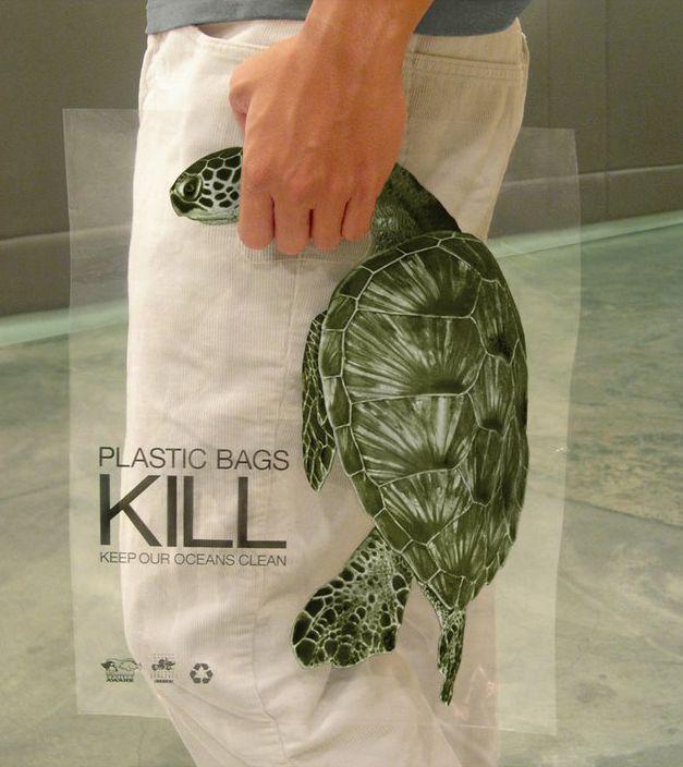 Come disincentivare l'uso delle borse in plastica… con una campagna d'effetto