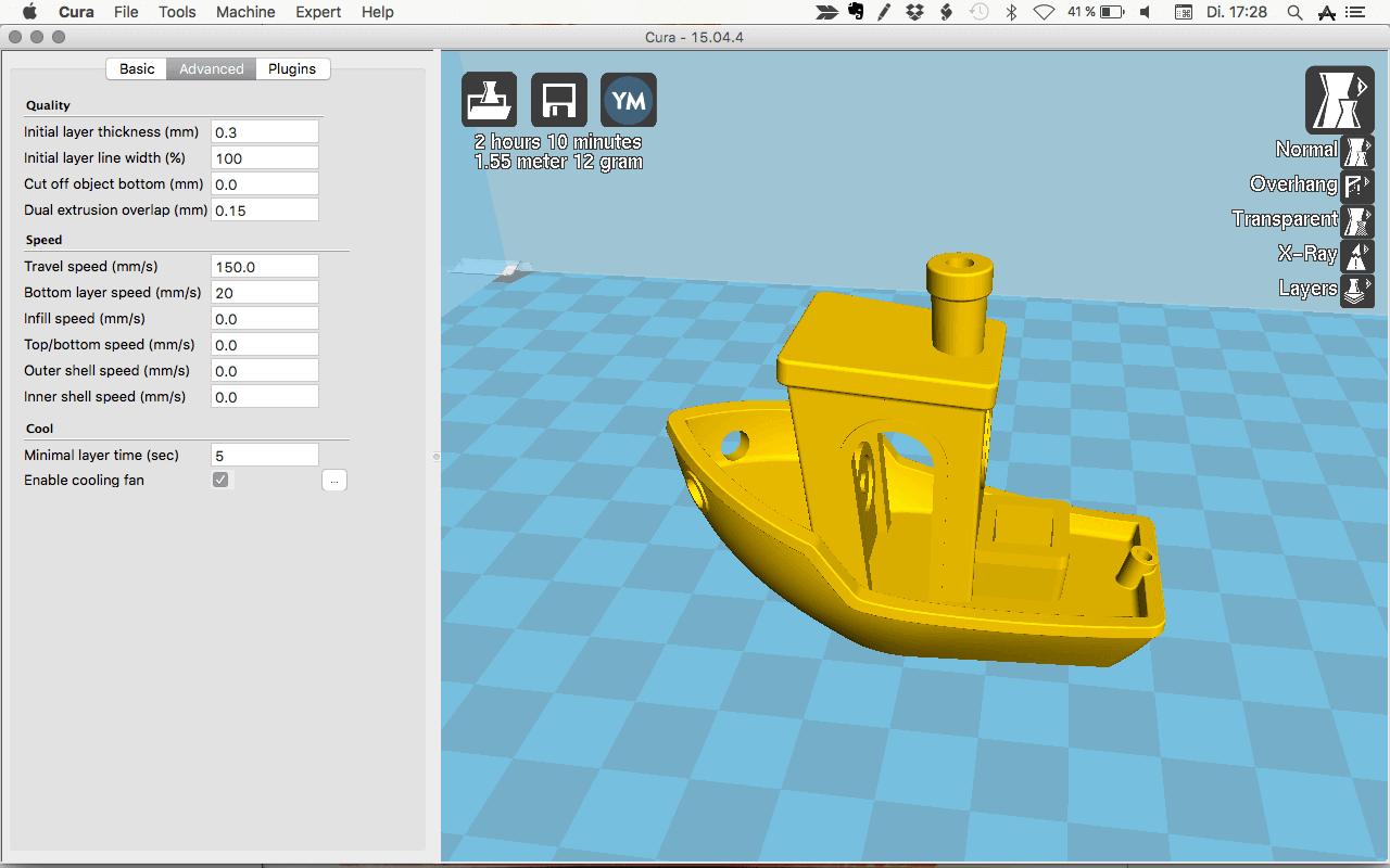 Modello digitale per la stampa 3D