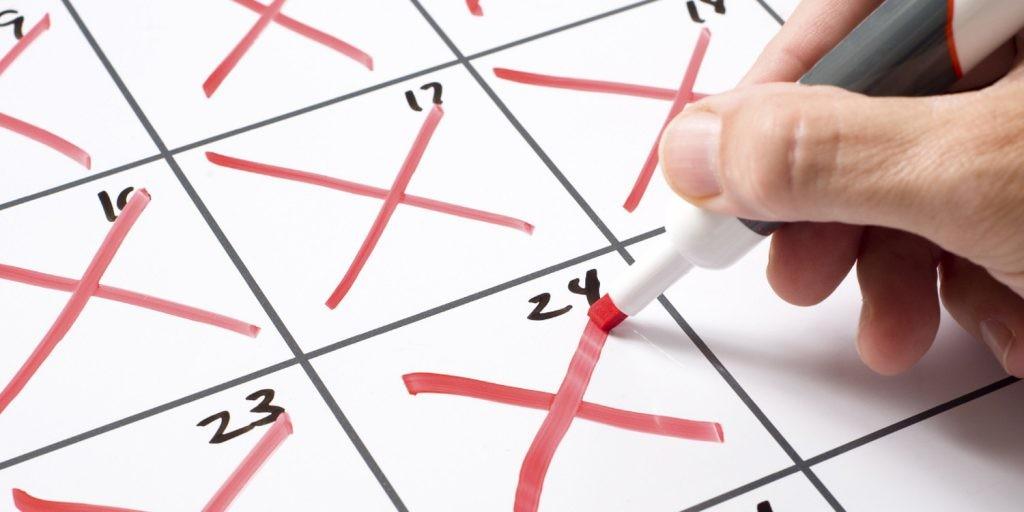 Calendario per campagna email marketing