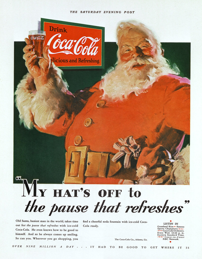 Babbo Natale e Coca Cola - The Saturday Evening Post