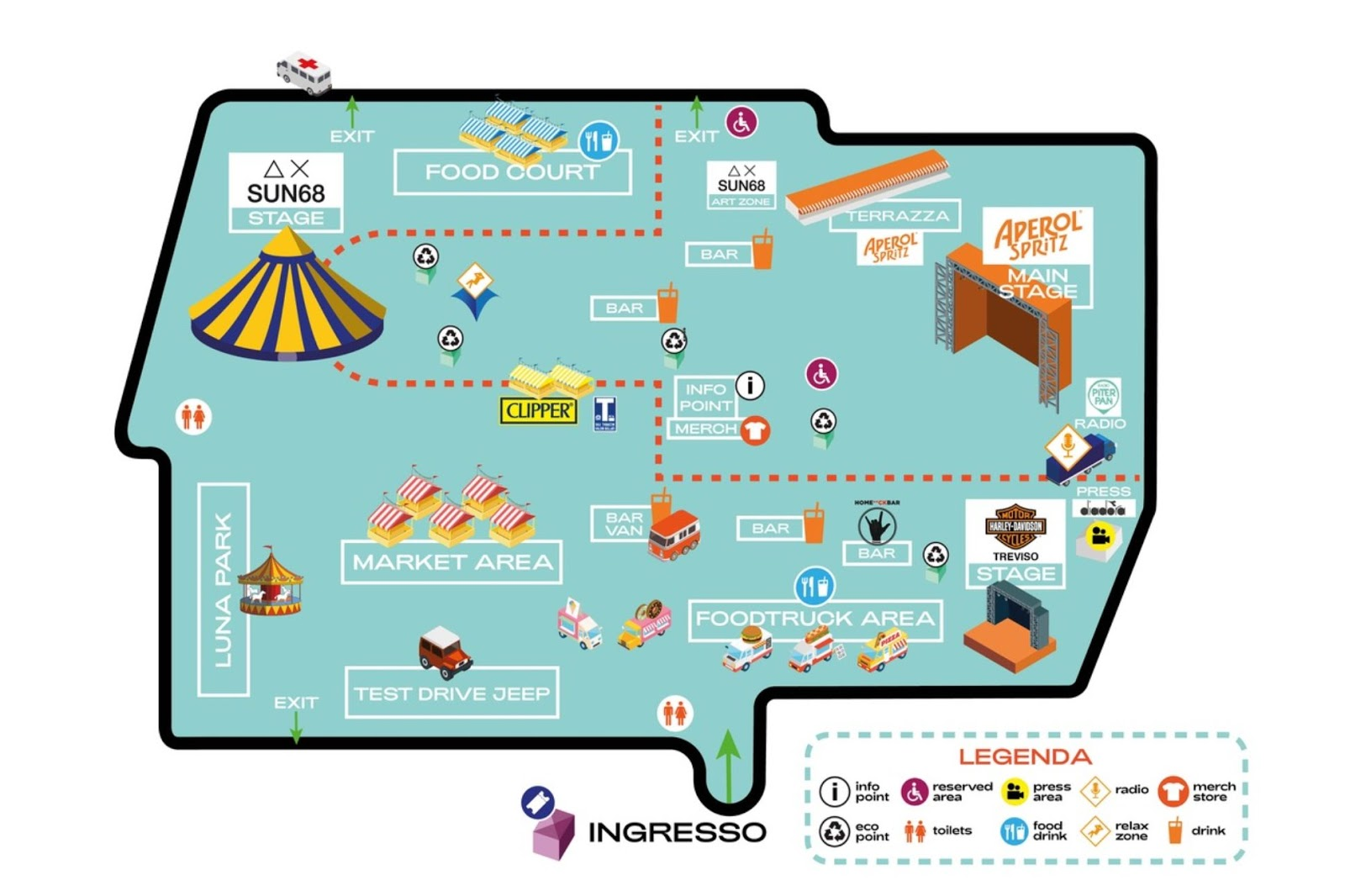 Mappa Core Festival Treviso Home Festival