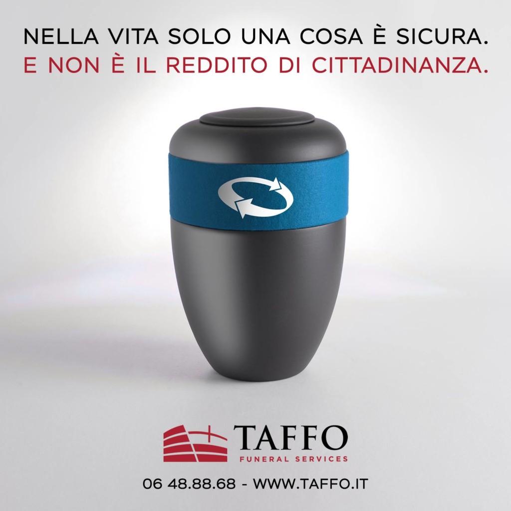 Taffo Funeral Services - Reddito di cittadinanza