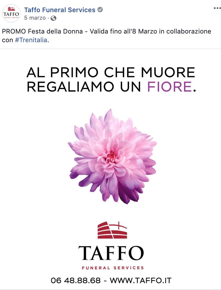 Taffo trolla Trenitalia per la Festa della Donna