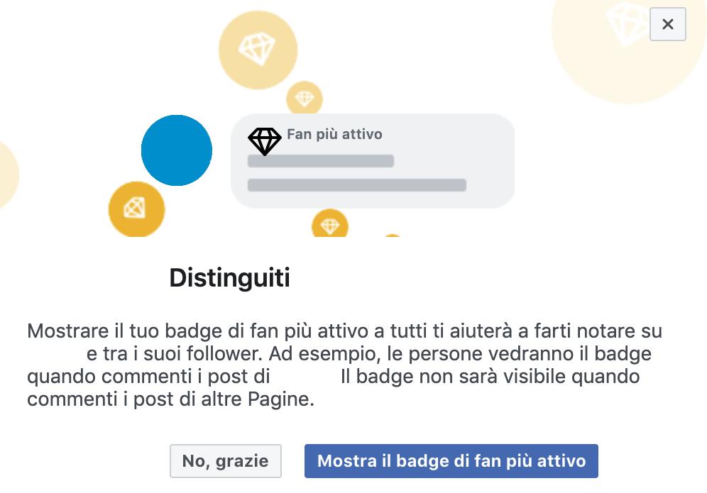 Fan più attivo - Facebook