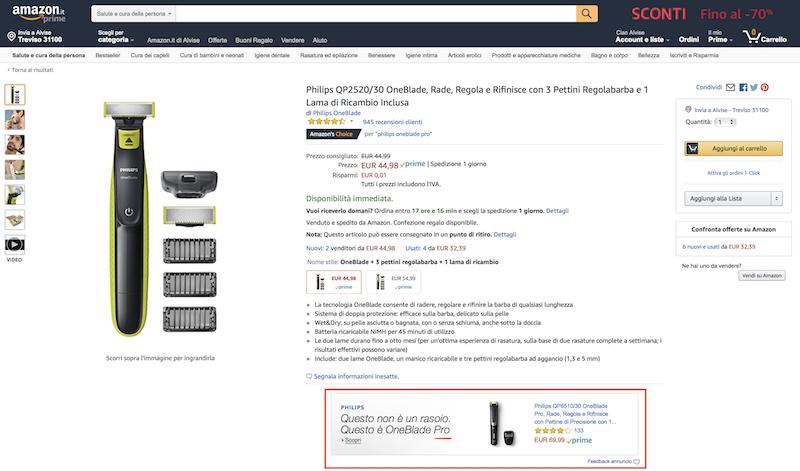 Up selling Amazon