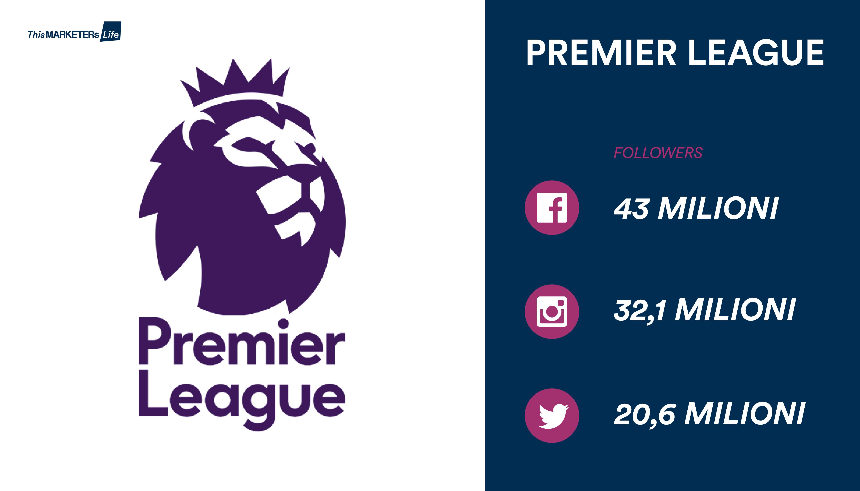 Calcio social Premier league followers