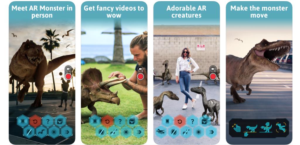 augmented reality dinosauri