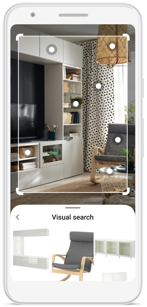Pinterest Visual search device