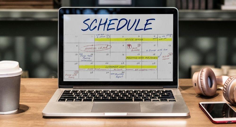 macbook calendar scheduled