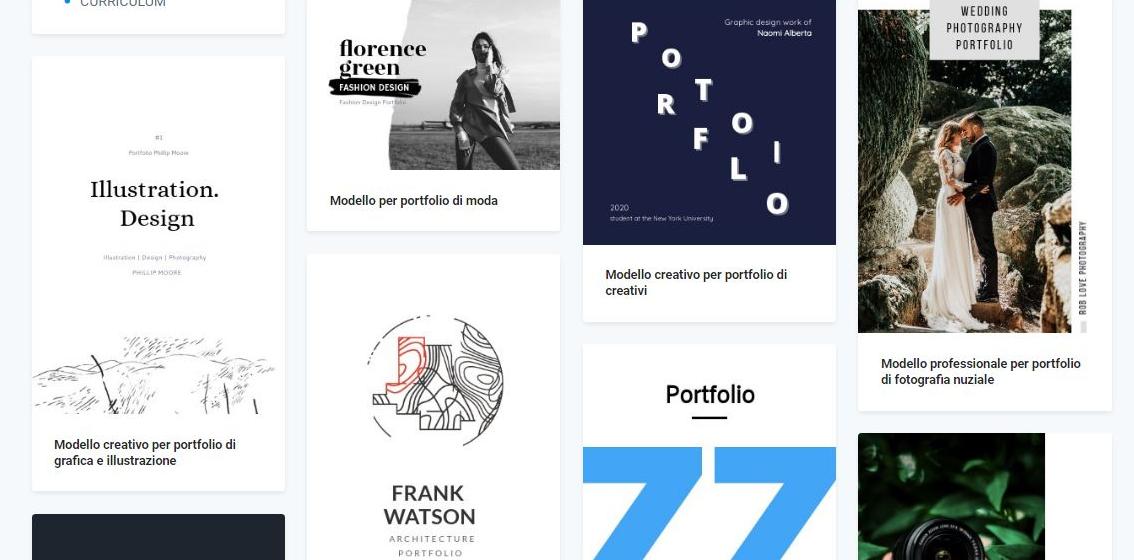 Alcuni modelli di portfolio