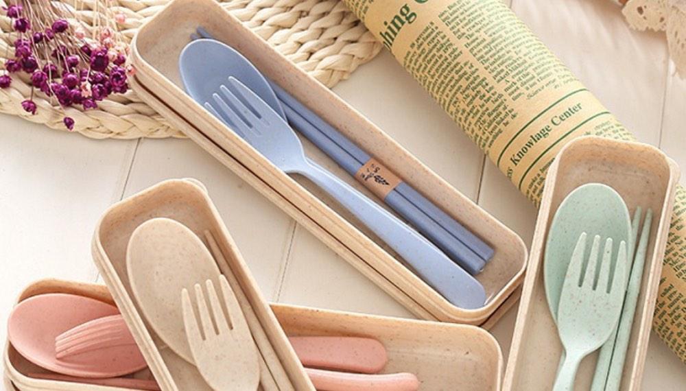 wheat straw tableware cutlery