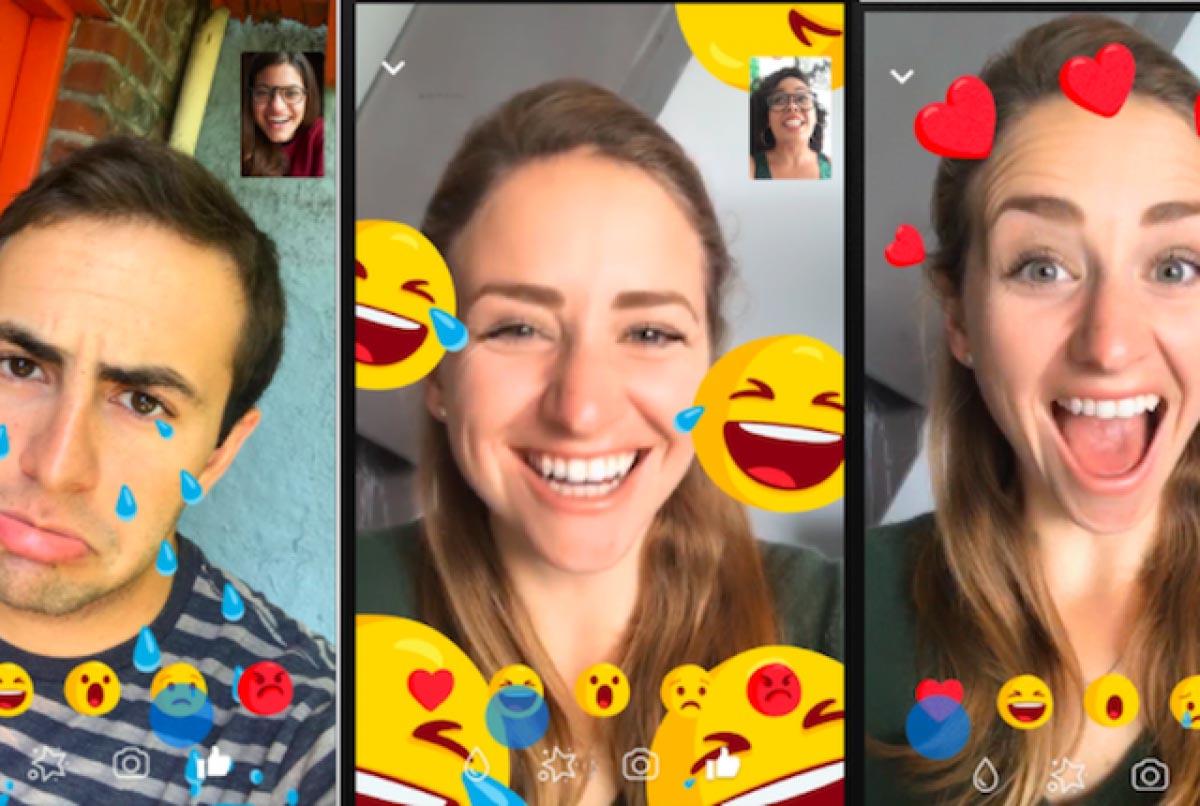 Grazie ai social network si possono fare videochiamate divertenti, con emoji e filtri facciali