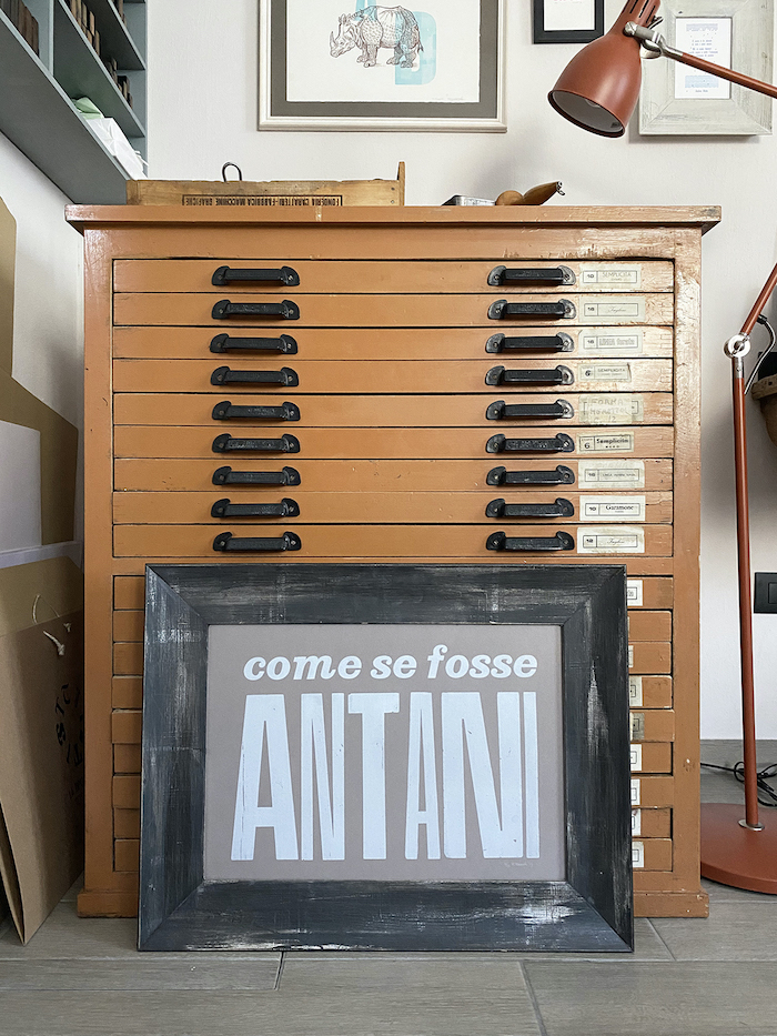 Poster Antani, La Tipografa Toscana
