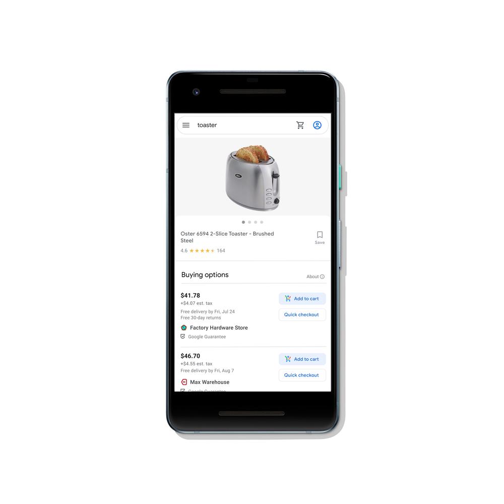 funzione buy on google su google shopping
