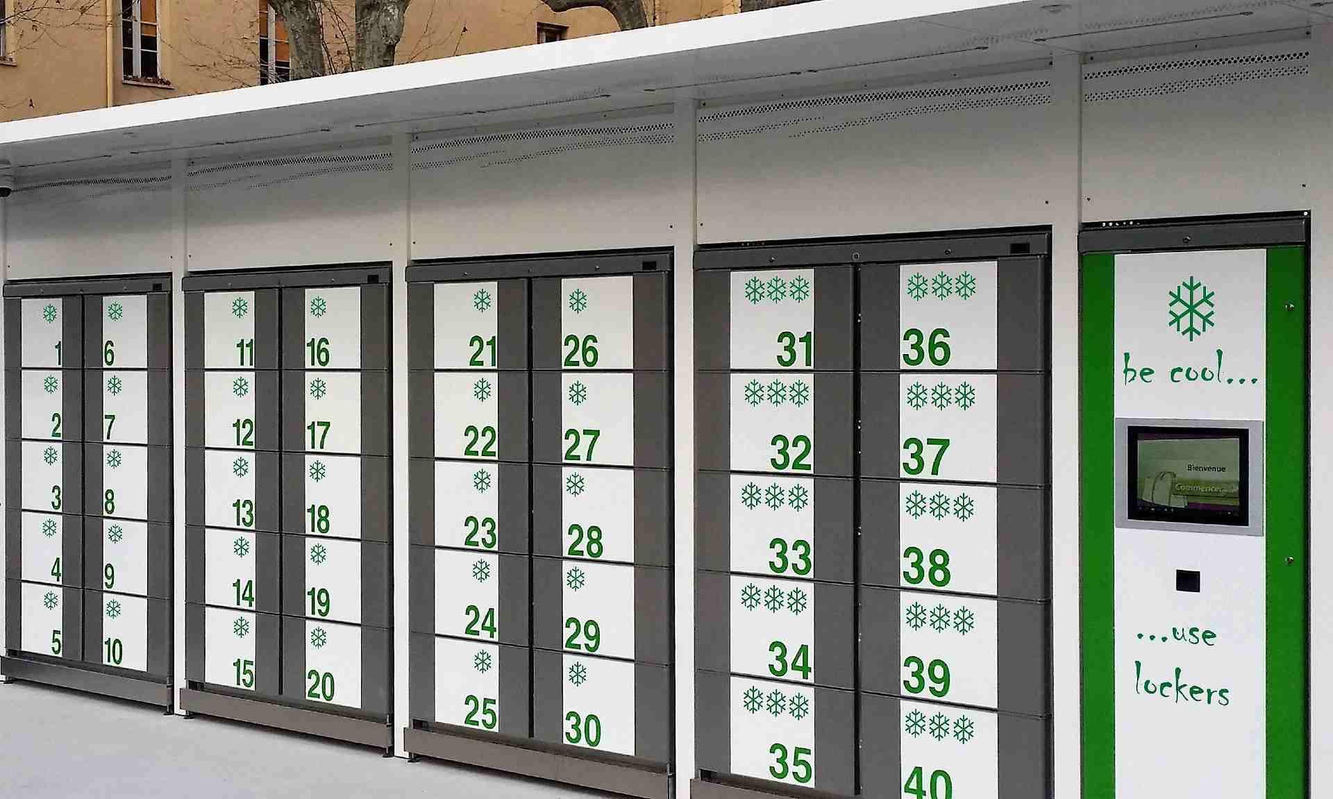 Gli smart locker sono frigoriferi composti da celle o armadietti per conservare il cibo