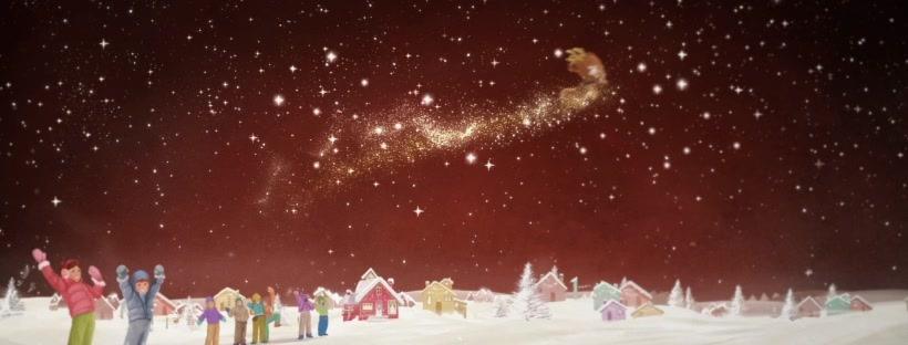 Con l'aiuto dei bambini e delle stelle cadute dai biscotti Pan di Stelle, Renna Cometa esaudisce il suo sogno e riesce a volare nel cielo come le renne di Babbo Natale