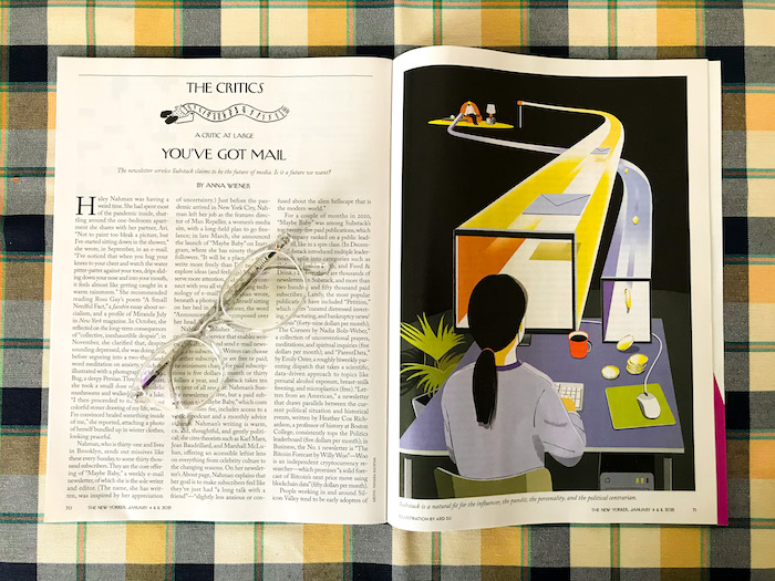 The New Yorker, Anna Wiener, You've got mail