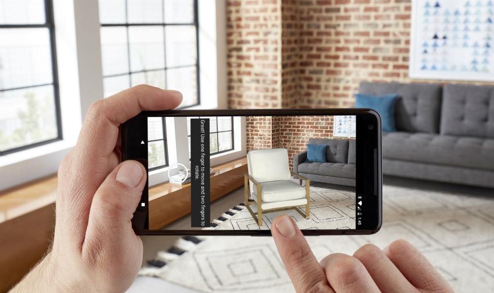 App di Ikea in cui si posiziona nella propria stanza un prodotto da acquistare