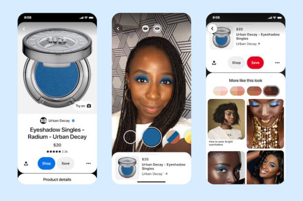 """App Pinterest la possibilità di """"try on"""" direttamente con il proprio smartphone"""