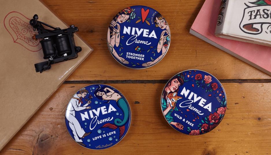 Nivea Creme con la sua collezione dedicata ai tatuaggi
