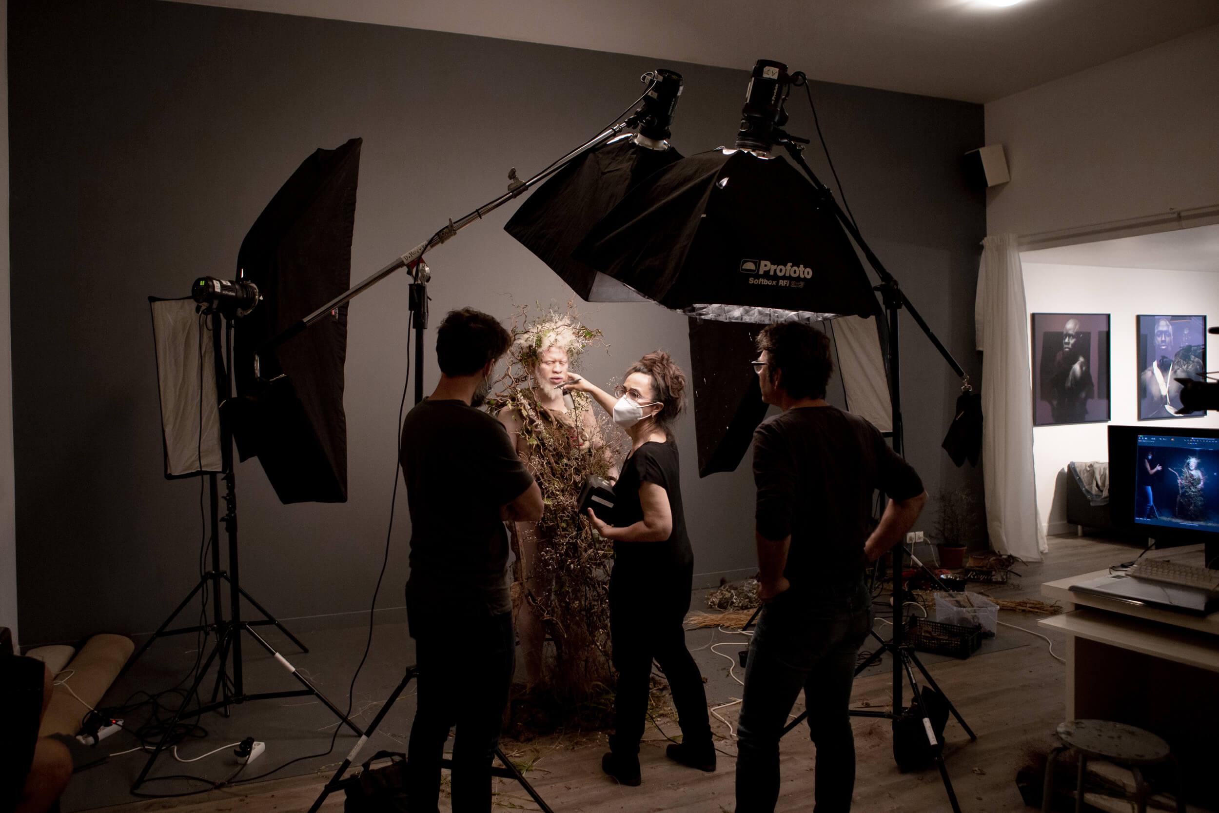 Costruzione del set fotografico per il mese di Gennaio