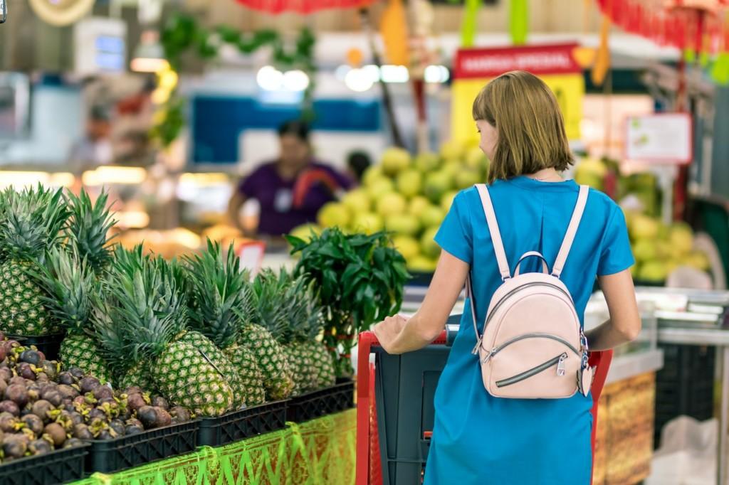 supermercato, shelf marketing