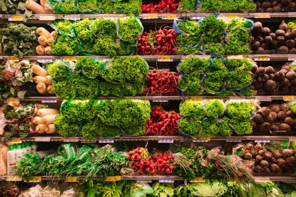 Frutta e verdura shelf marketing