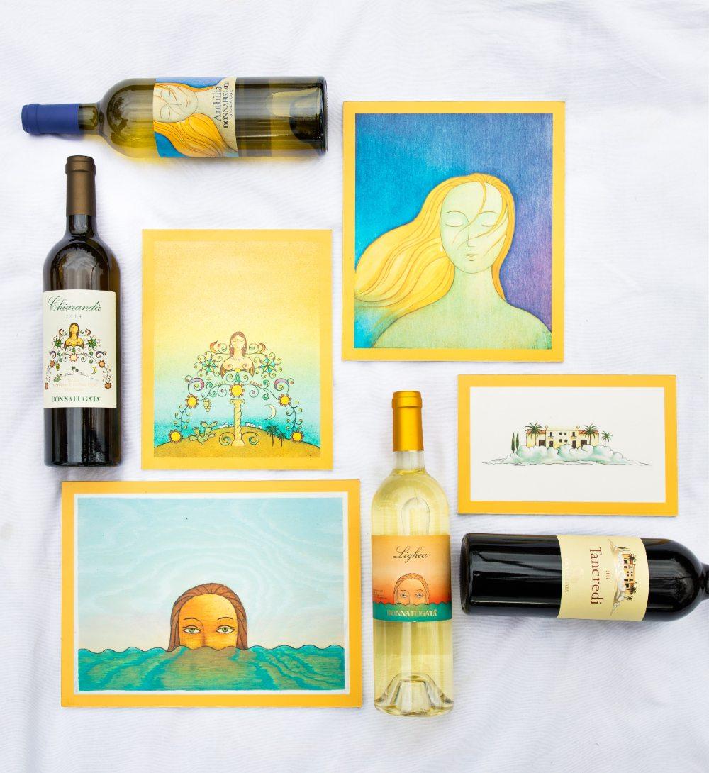 Donnafugata è una delle più conosciute in quanto a etichette di vino creative